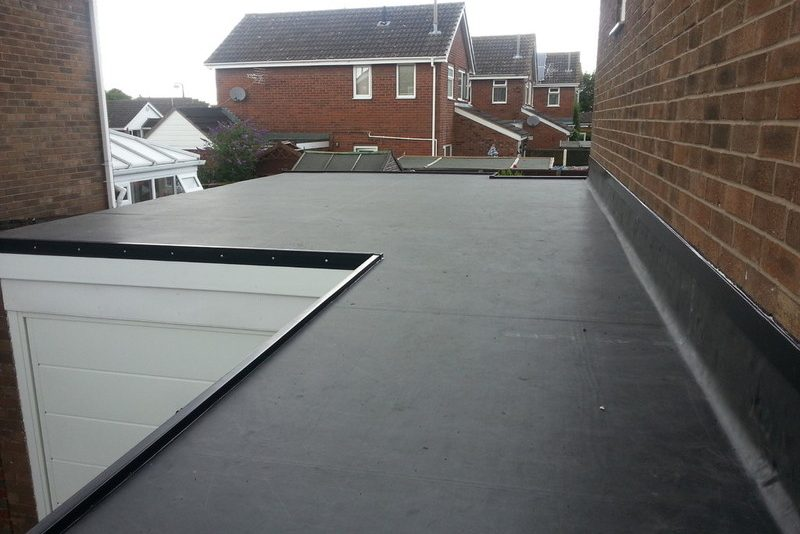 slow slope flat epdm rubber roof